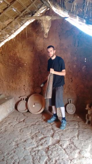 Matt demanding attention in the 'Man Cave'